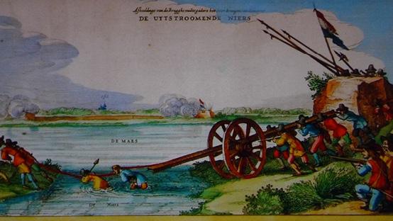 Belegering-1641-Oversteek-Niers